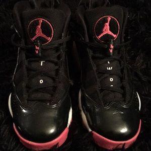 Black, pink & white Air Jordan's